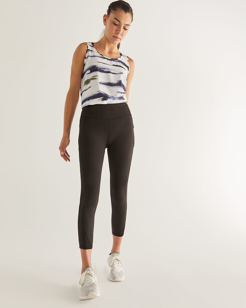 Hyba Cropped Leggings with Mesh Inserts