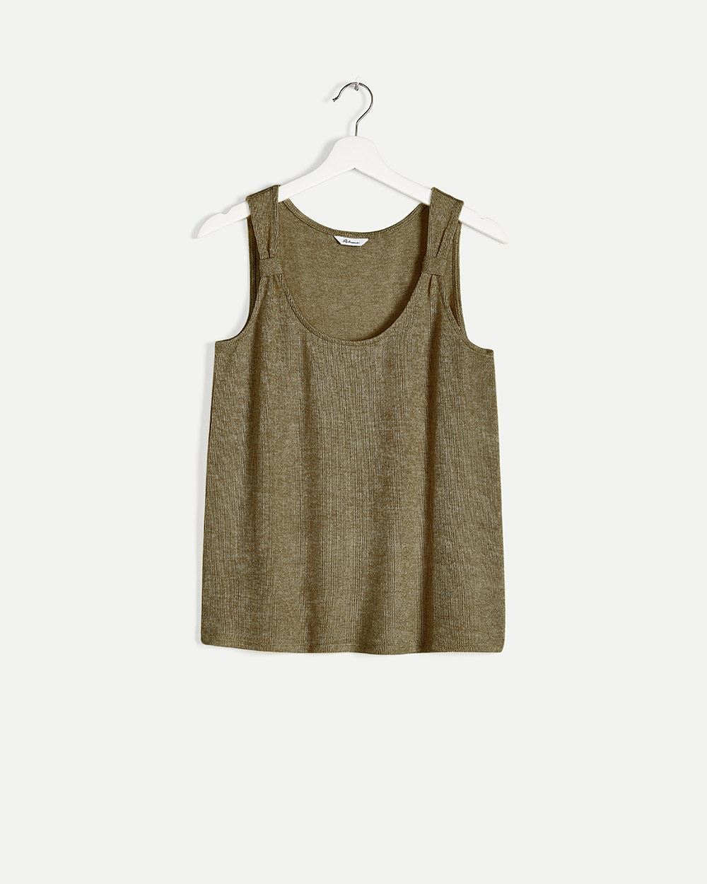 Scoop Neck Cami with Knotted Shoulders