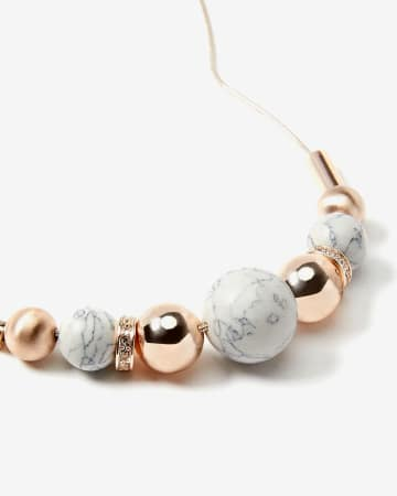 Necklace With Marble-Like Beads