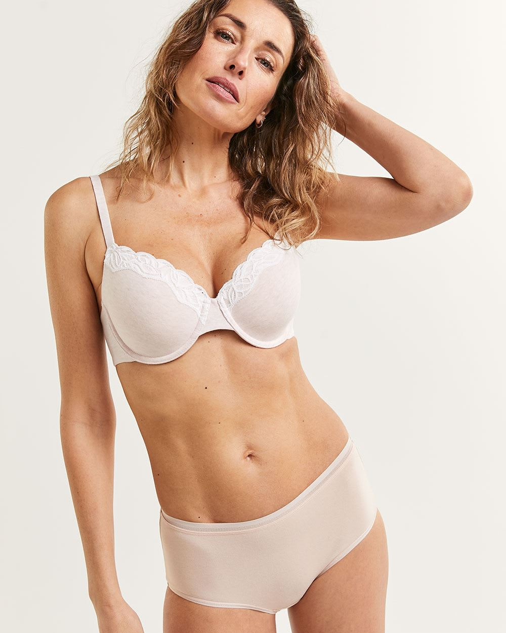 Full Coverage Cotton Bra with Lace