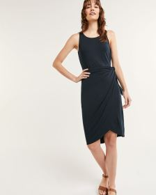 Sleeveless Knotted Wrap Dress