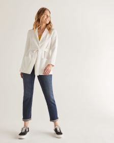 Willow & Thread Textured Soft Blazer with Sash