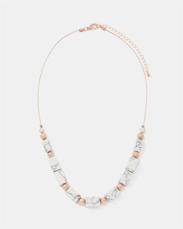 Howlite Beads Necklace