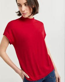 Short Sleeve Mock Neck Tee