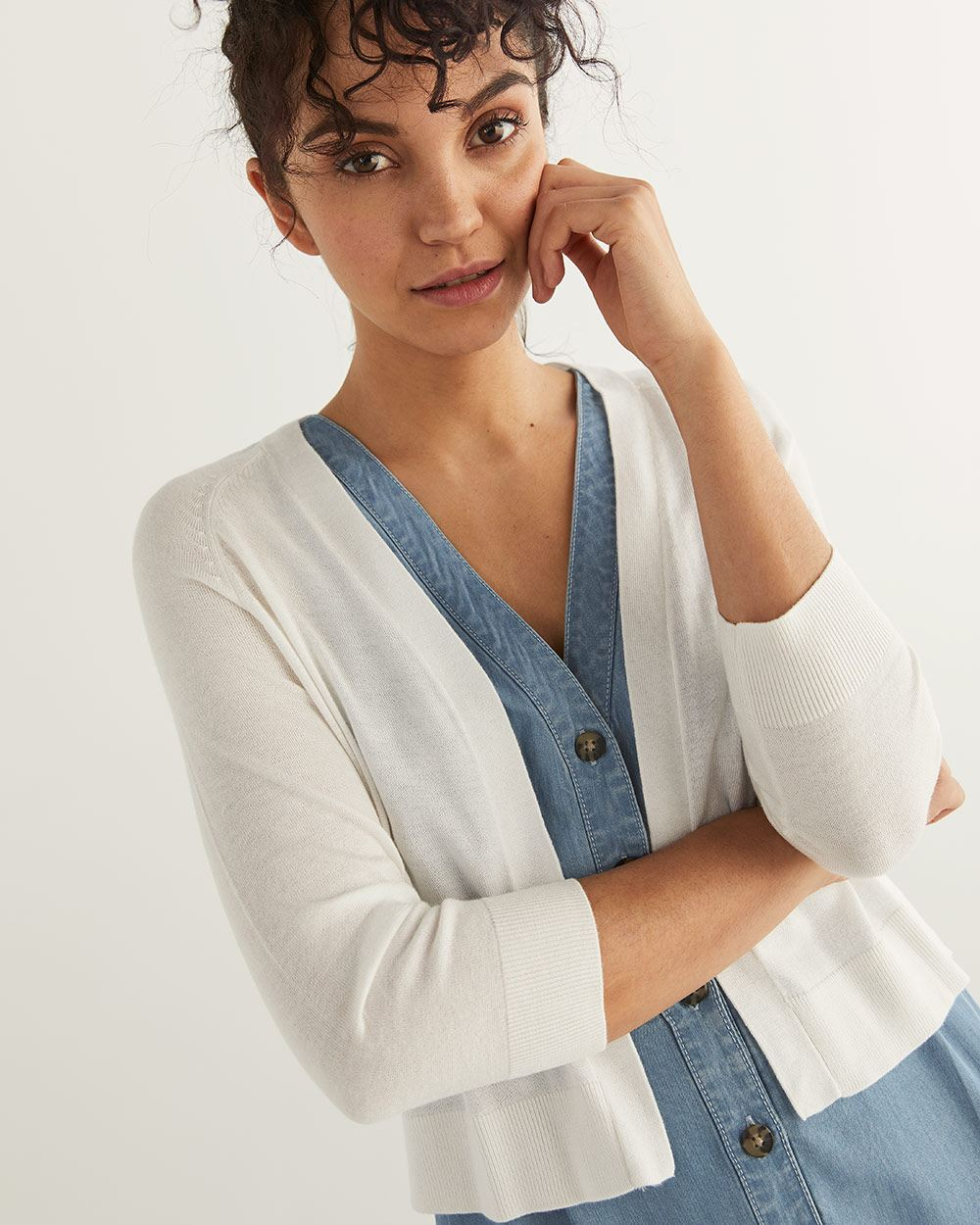 3/4 Sleeve Shrug Cardigan