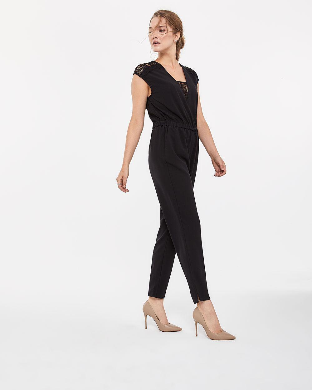 7694499641518 Lace Insert Jumpsuit | Regular | Reitmans
