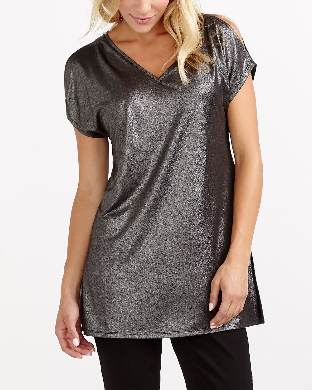 Short Sleeve Cold Shoulder Tunic