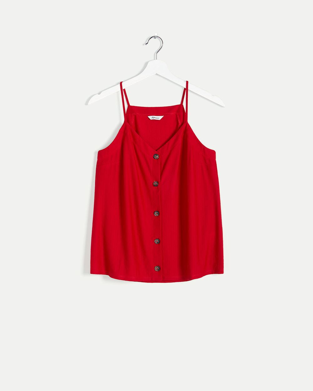V-Neck Buttoned-Front Cami