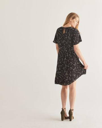 Floral Print Belted Shift Dress