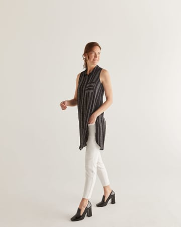 Striped Sleeveless Tunic