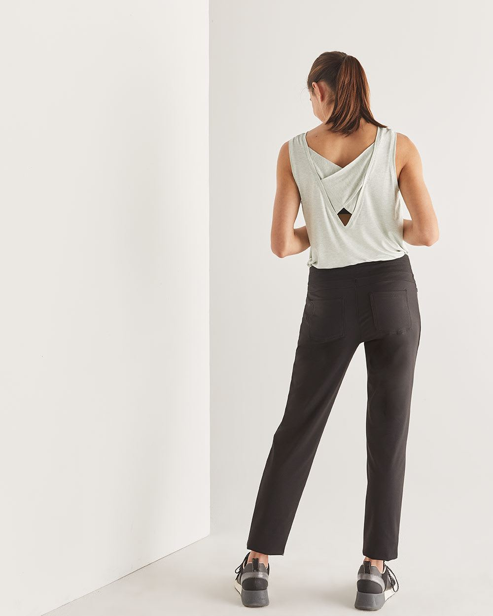 Hyba Urban Black Slim Pants - Petite