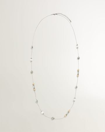 Collier long texturé