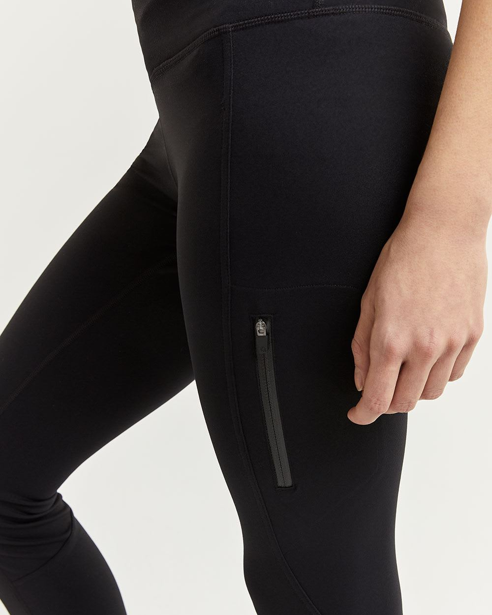 Ankle Black Leggings with Pocket Hyba
