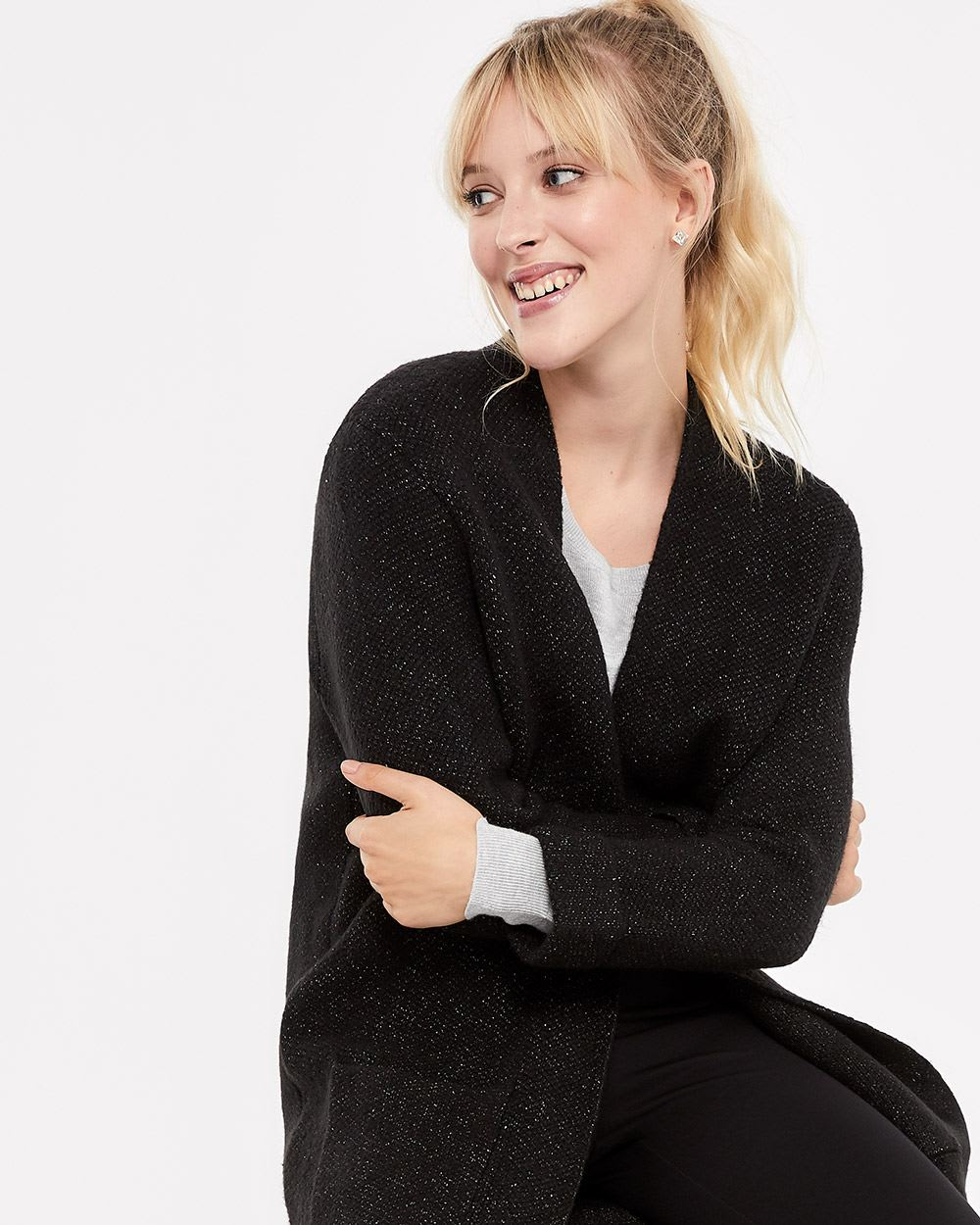 Long Solid Cardigan