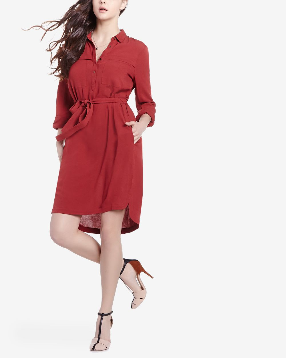dfd87fd6abf Long Sleeve Shirt Dress