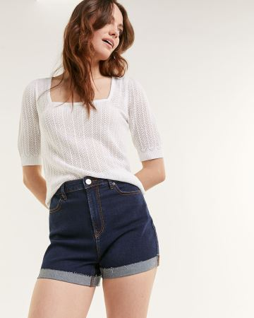 Dark Wash Denim Shorts The Super High Rise