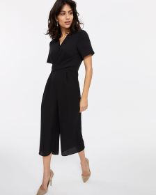 Front Twist Cropped Jumpsuit