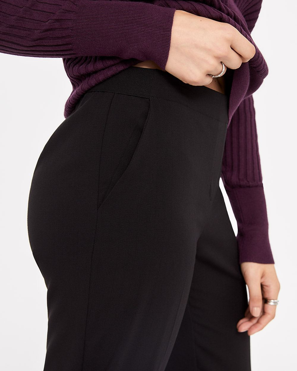 Petite Solid Pull On Pants