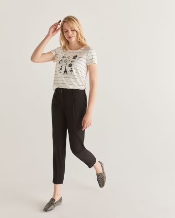 Slim Black Ankle Pants - Tall