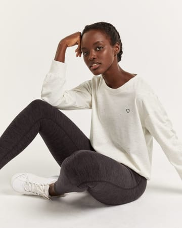 Hyba Long Sleeve Sweater with Embroidery