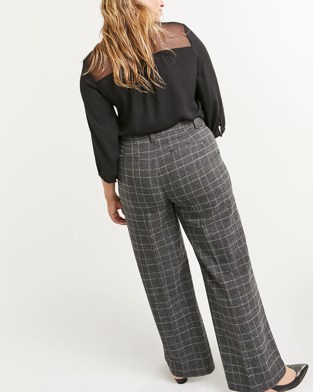 Pantalon ample à carreaux