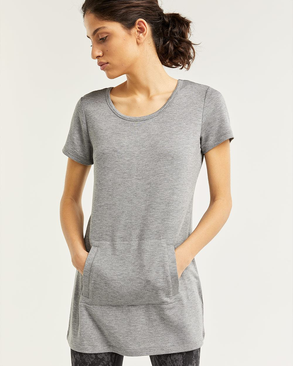 French Terry Short Sleeves Tunic Hyba