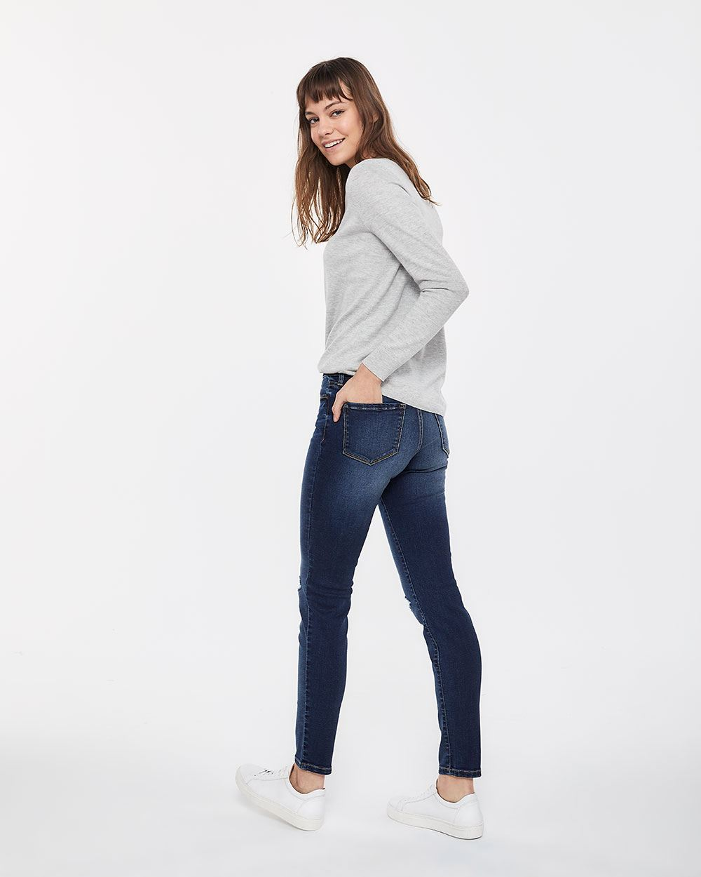 Tall Medium Wash Skinny Ripped Jeans