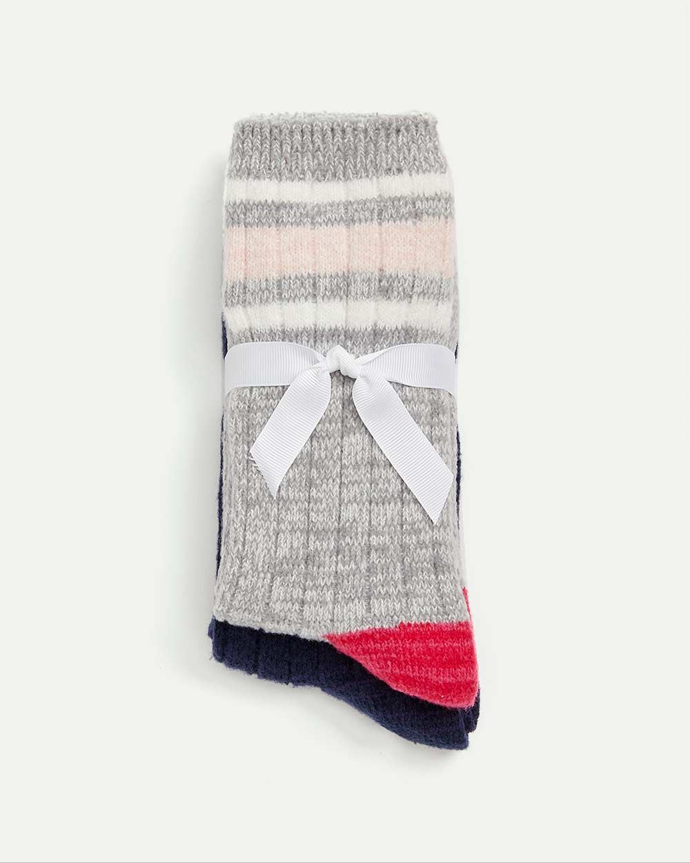 2-Pack Socks - Striped & Solid