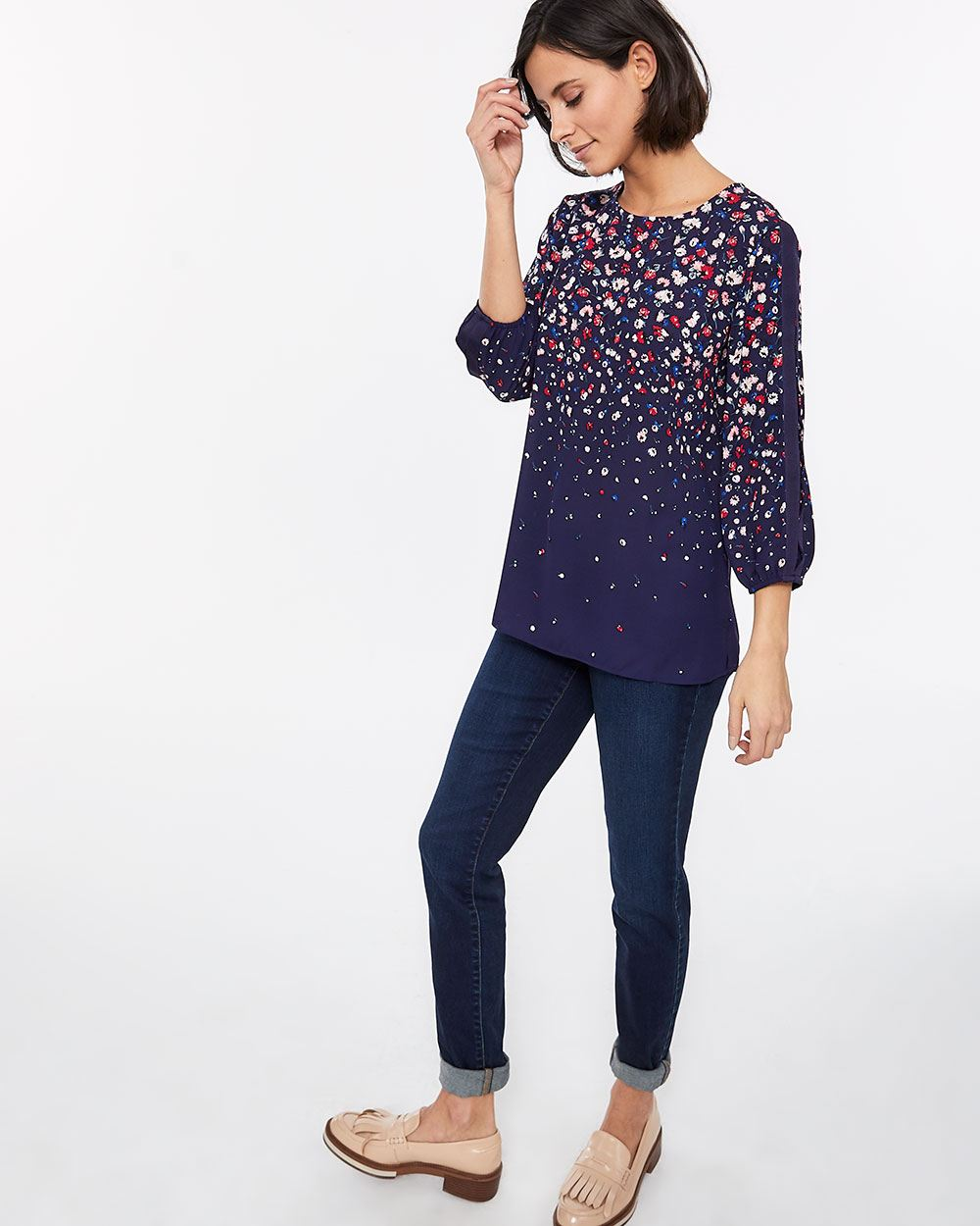 3/4 Puff Sleeve Blouse