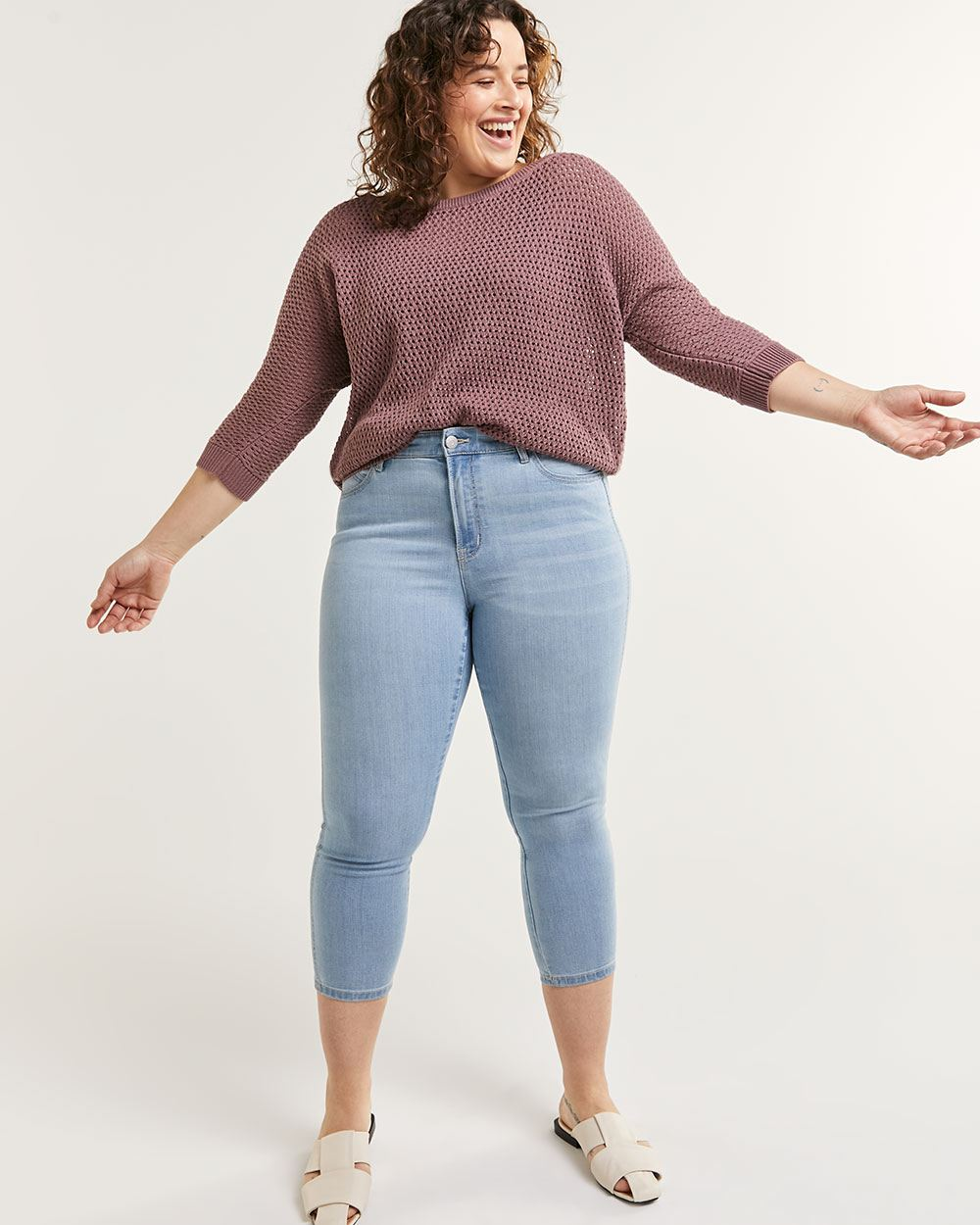 High Rise Cropped Jeans The Signature Soft