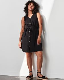 Sleeveless Swing Dress with Sash