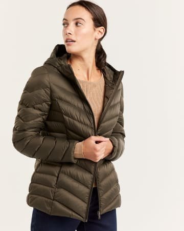 Packable Hooded Down Coat