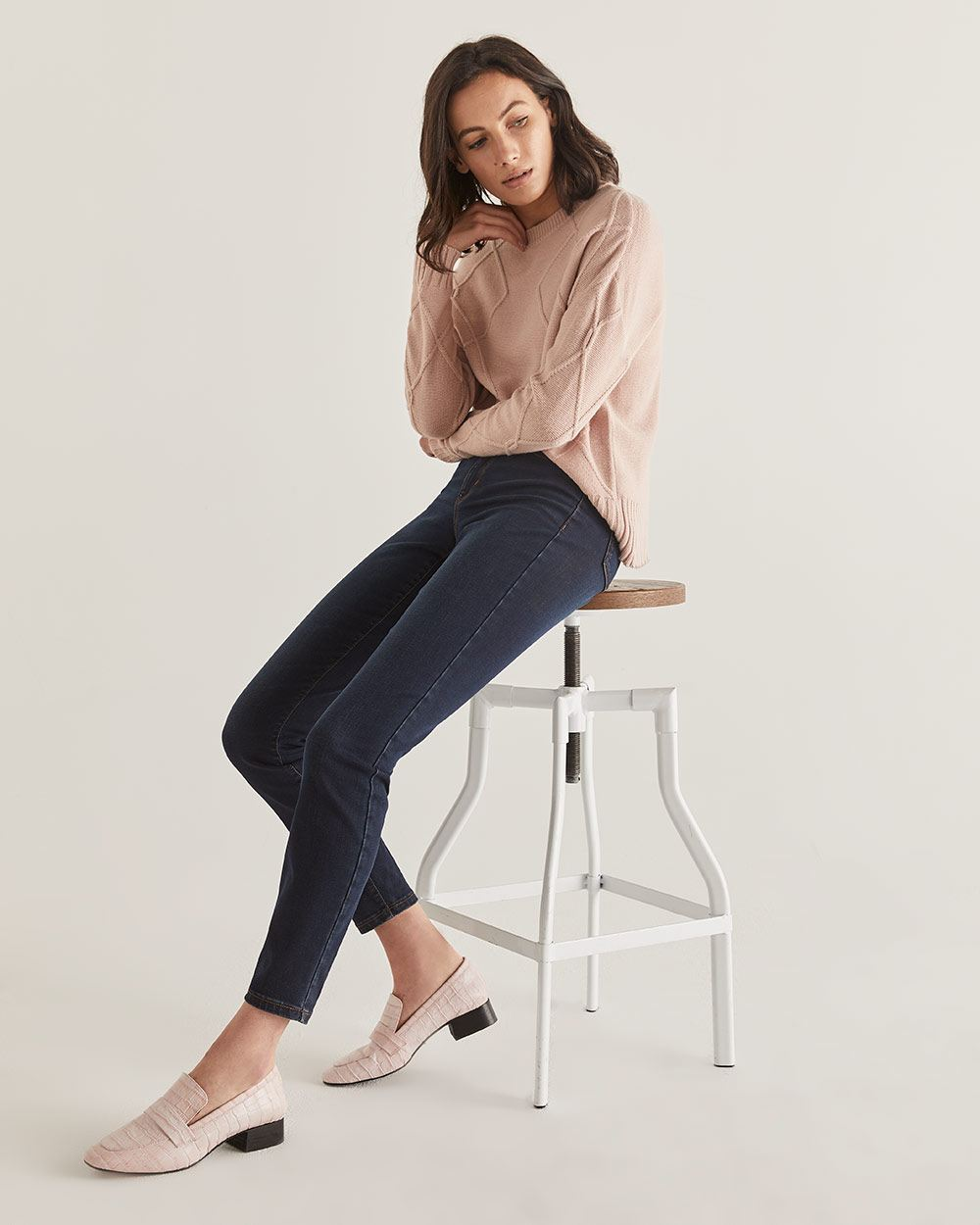 The Tall Sculpting Dark Wash Skinny Jeans