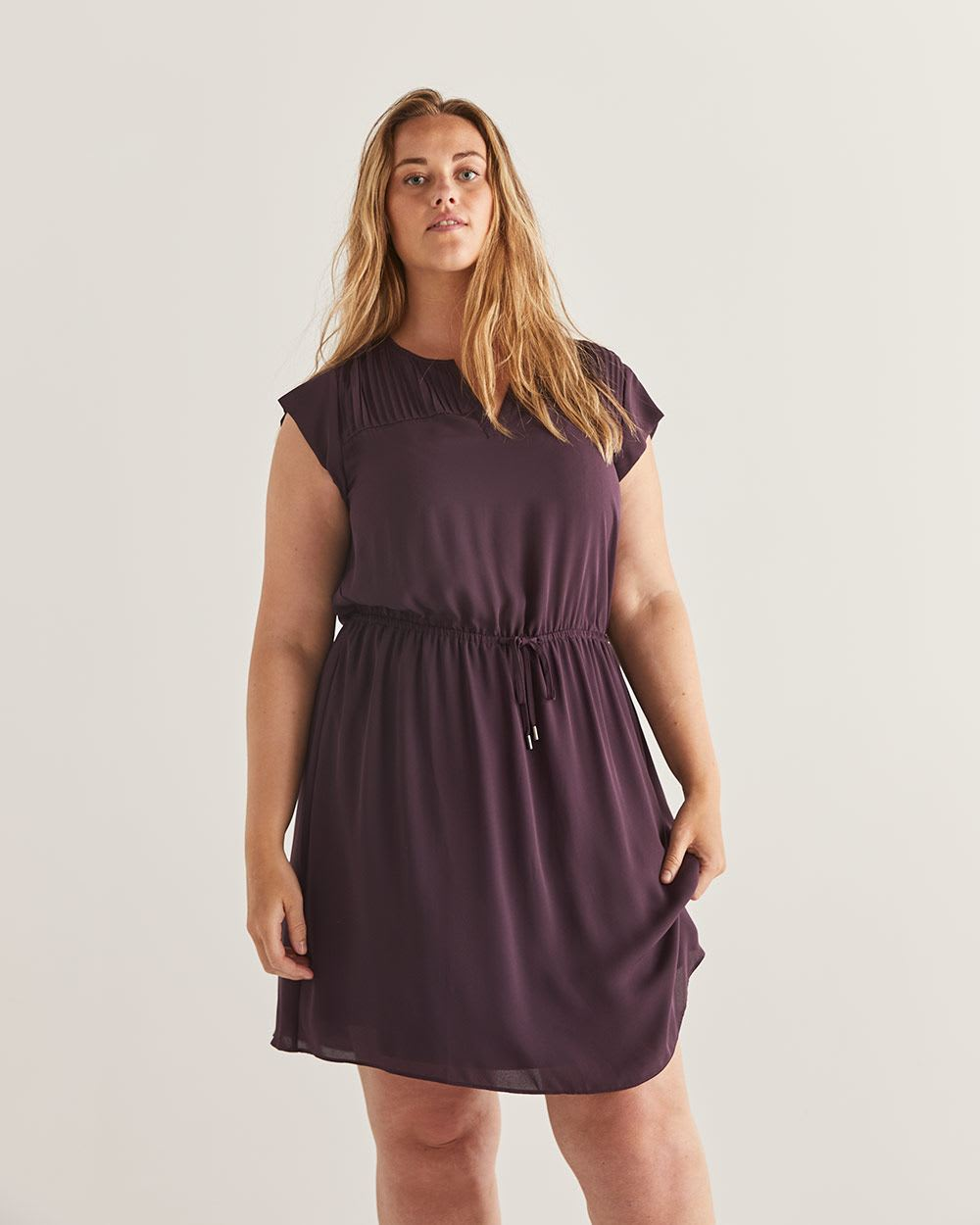Fit & Flare Elastic Waist Dress