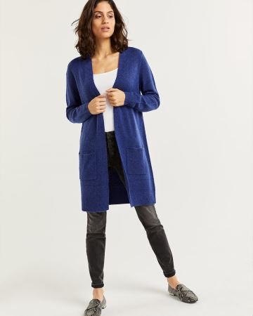 Long Sleeve Open Cardigan with Pockets