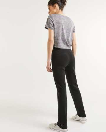 Hyba Black Straight Sculptor Pants