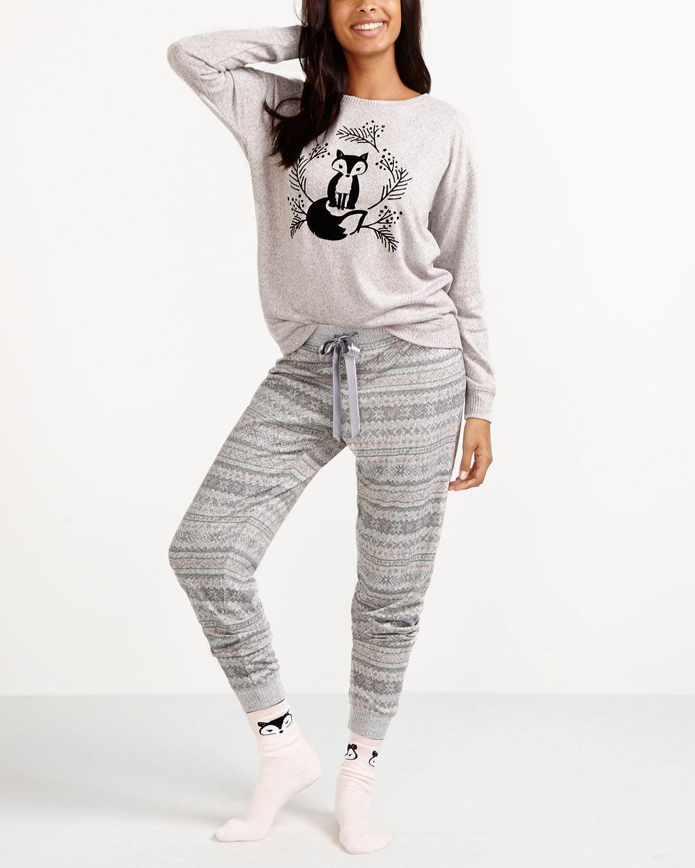 5647e5c571 Deluxe Fox Print Pyjama Set