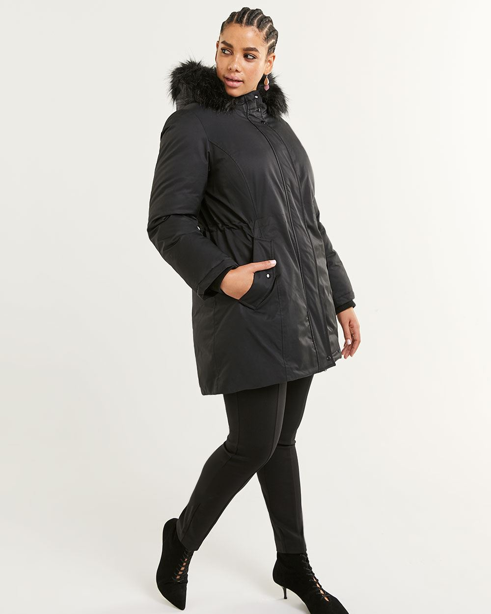 Faux Fur Hooded Anorak