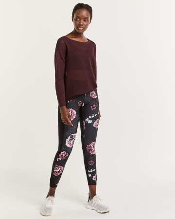 Hyba Side Details Printed Leggings