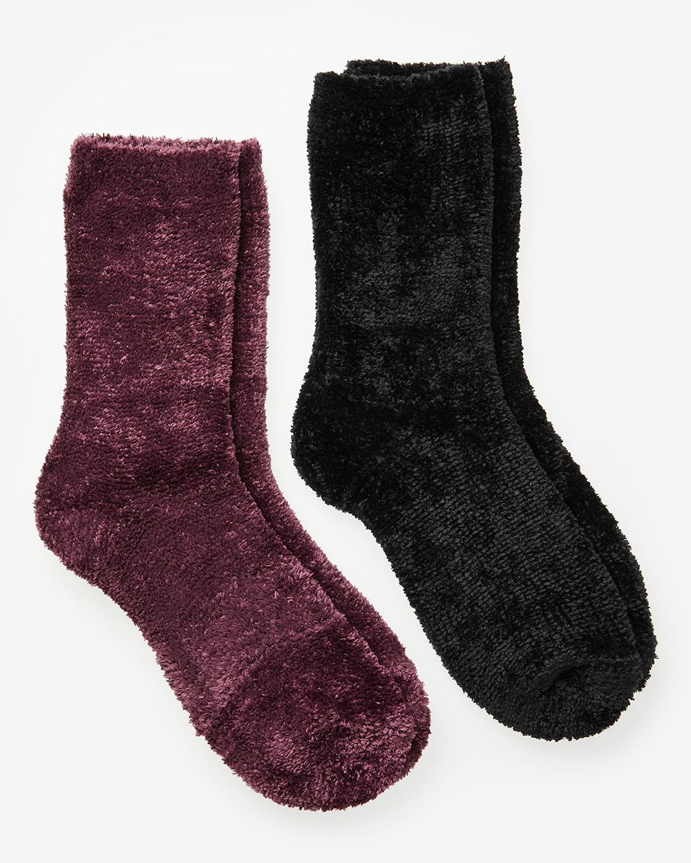 2-Pair Set of Chenille Socks