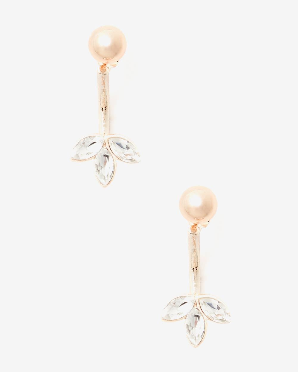 Flower Petal Drop Earrings