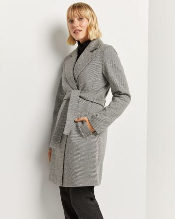 Tailored Collar Coat with Belt