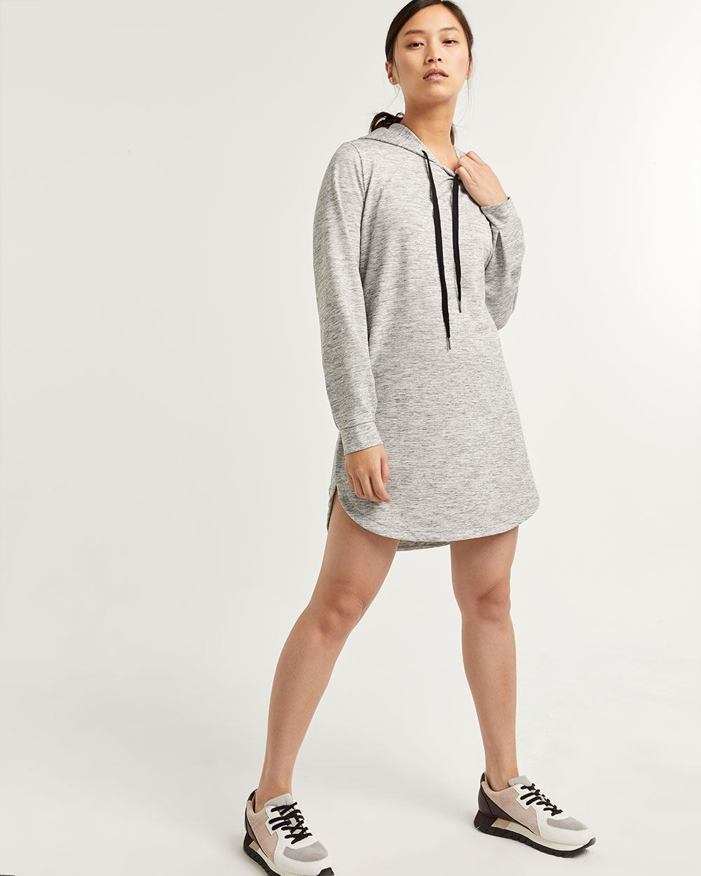 French Terry Hooded Dress Hyba