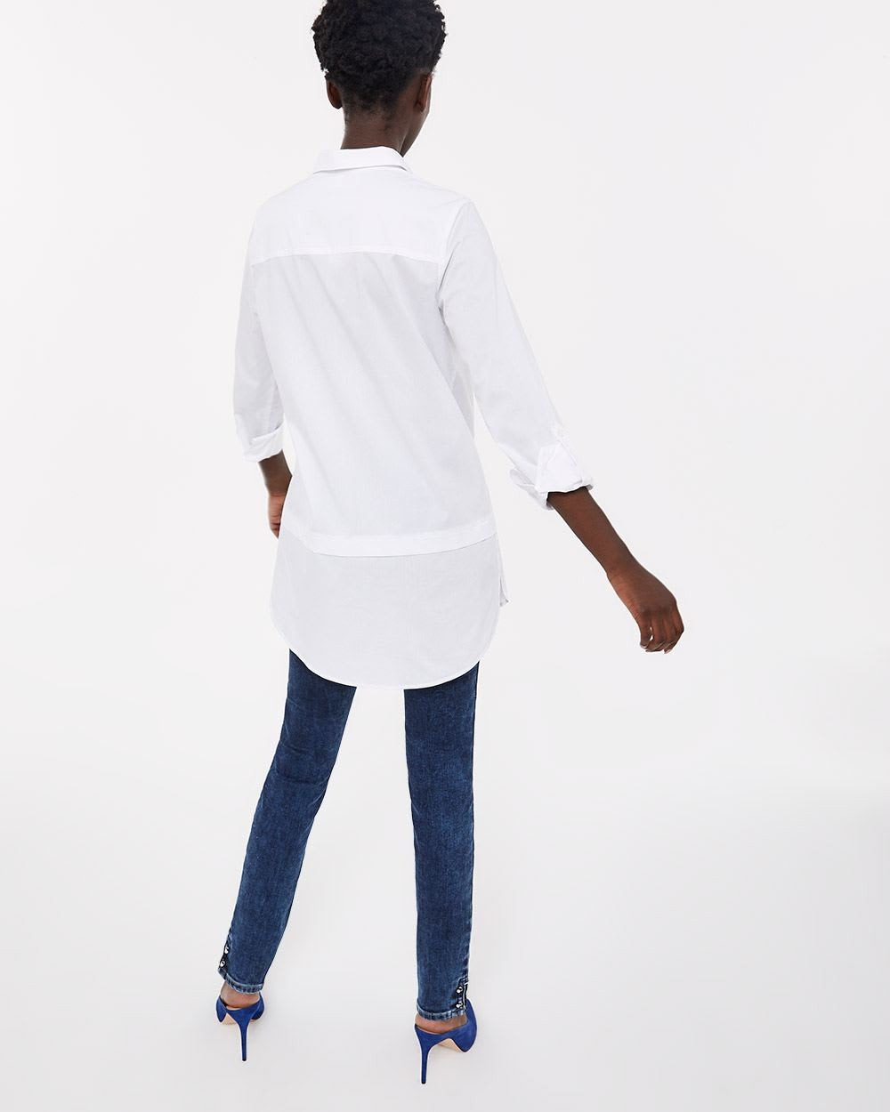 Long Sleeve Solid Blouse