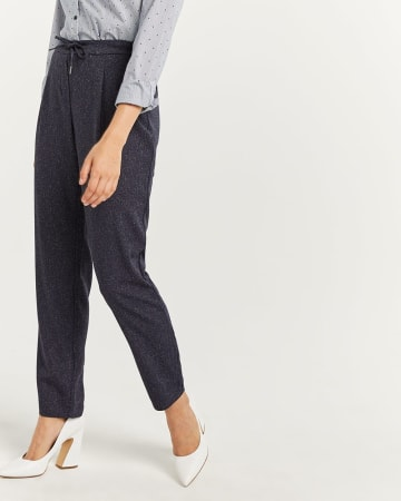 Nep Yarn Jogger Pull On Pants - Tall