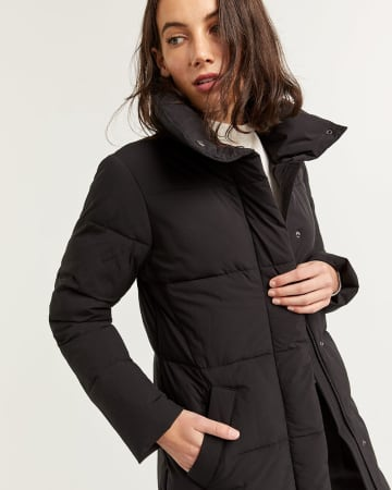 Long Quilted Winter Coat