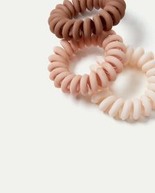 3-Pack Chunky Spiral Hair Ties