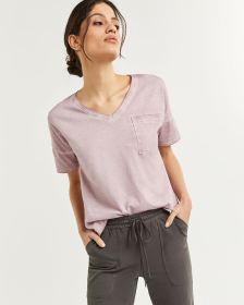 Short Sleeve V-Neck Cotton Tee Hyba