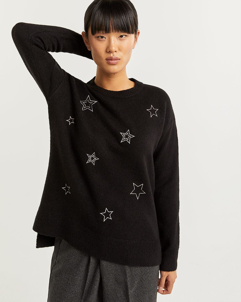 Star Embroidery Sweater