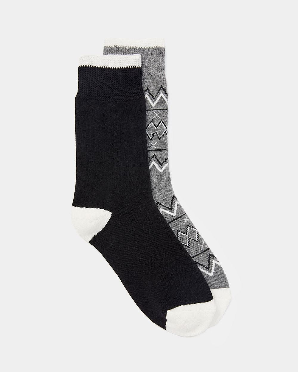 2-Pack Cotton-Blend Knitted Socks